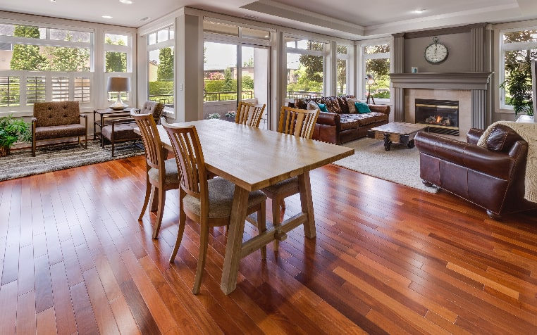 hardwood floor home