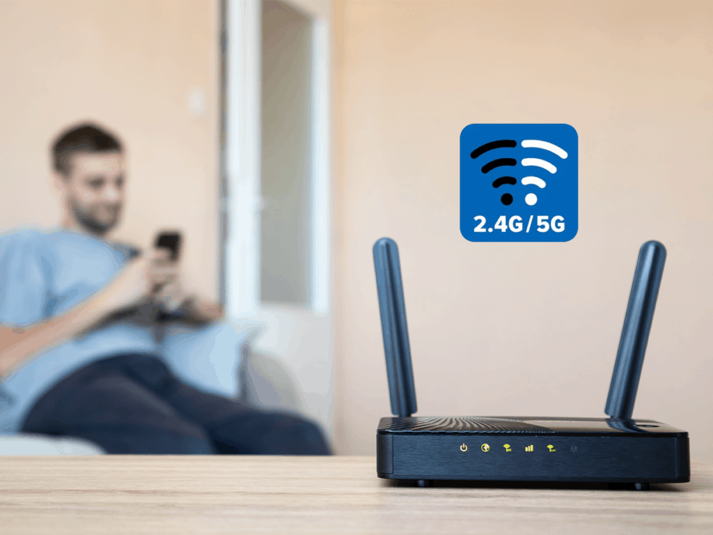 Set up the band frequency of your router